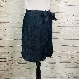 Tommy Hilfiger Denim Skirt Blue Dark Wash Sz Sm